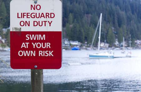 A sign warns