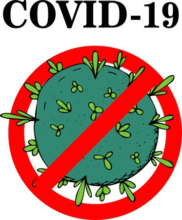 vector illustration, concept of stopping the spread of coronavirus, covid-19