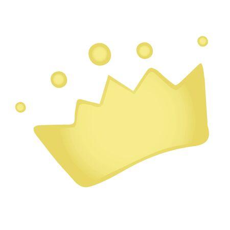vector element, cute cute princess crown for girl, cartoon, kawaii, dream