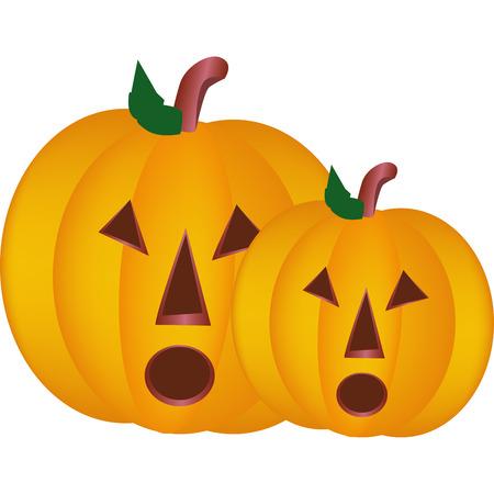 large pumpkin carved for Halloween