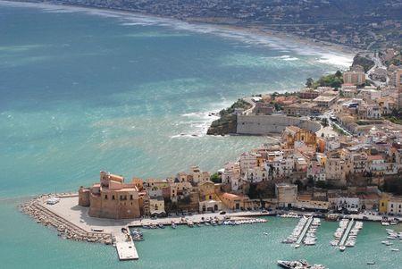 landscape Castellammare del Golfo in Sicily during the summer