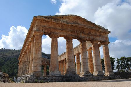 segesta: archaeological site of Segesta in Sicily during the summer Stock Photo
