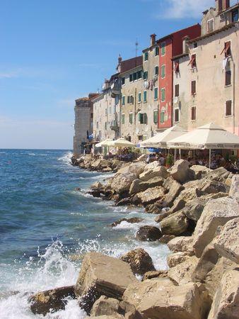 Journey to the sea in Istria, Croatia, in the beautiful coast photo