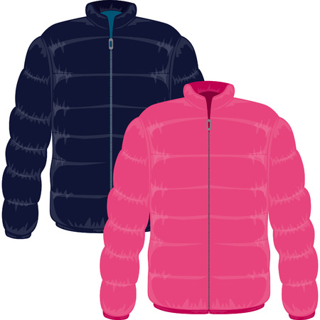 winter jacket: winter jacket filled with real goose down Illustration