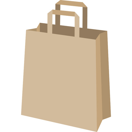 shopping bag used to make purchases in cardboard