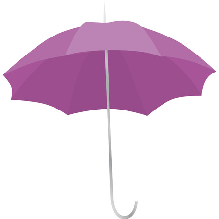 drawing of a purple umbrella open to the rain