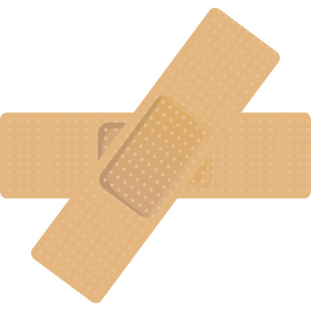 breathable: patch of breathable plastic to cure and protect the wound Illustration