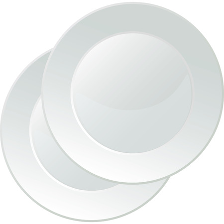 White porcelain serving platter with no decorations