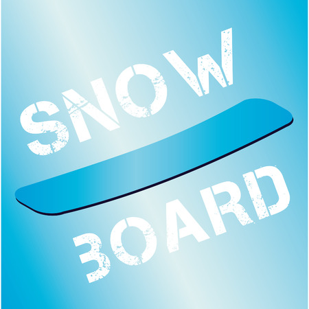 table for snowboarding in the snow during the winter Illustration