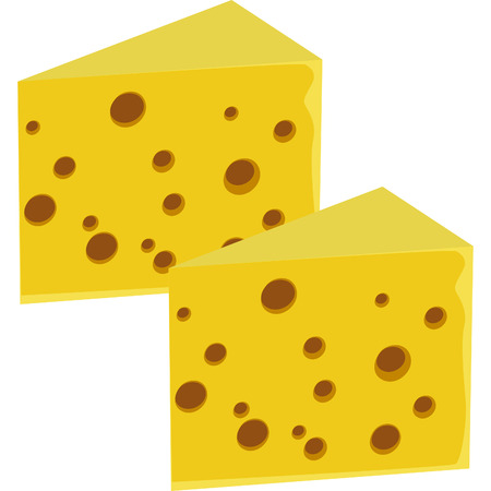 large slice of good swiss cheese with holes