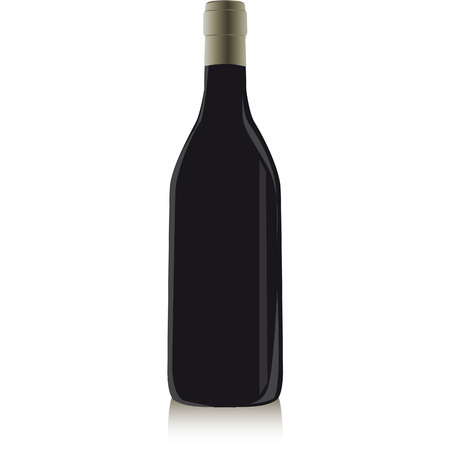 glass bottle containing red wine