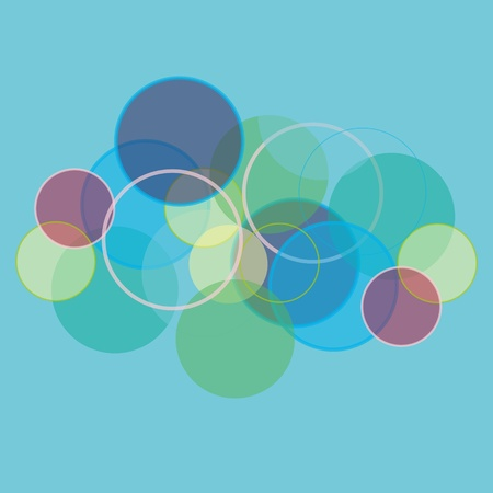 colored circles that blend with each other