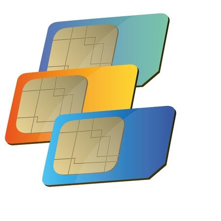 sim card for mobile phone Illustration