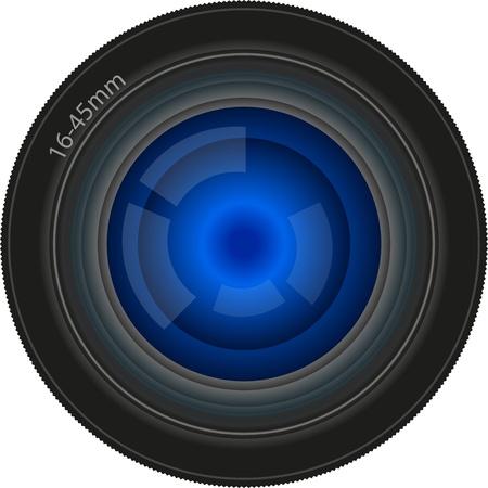 lente utilizada para la película o cámara digital