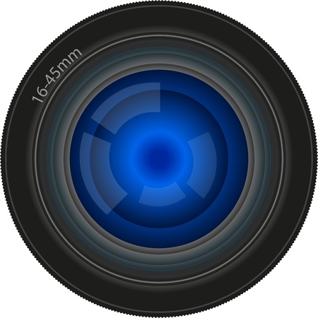 diaframma: obiettivo utilizzato per la fotocamera digitale o pellicola Vettoriali
