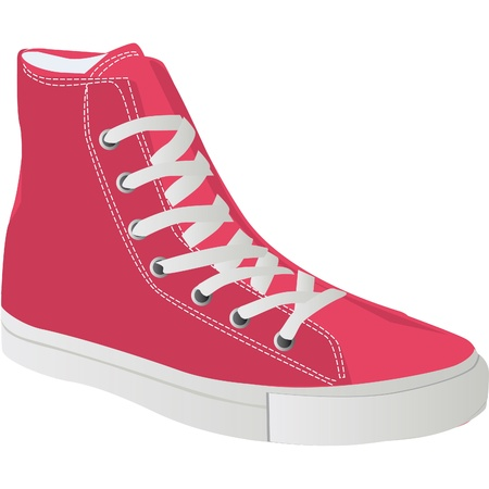 trainers for young people and teenagers Vector