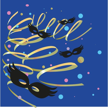 carnival party with confetti and streamers Stock Vector - 11945183
