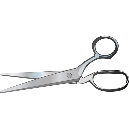 scissors to cut anything, hair and tissue Illustration