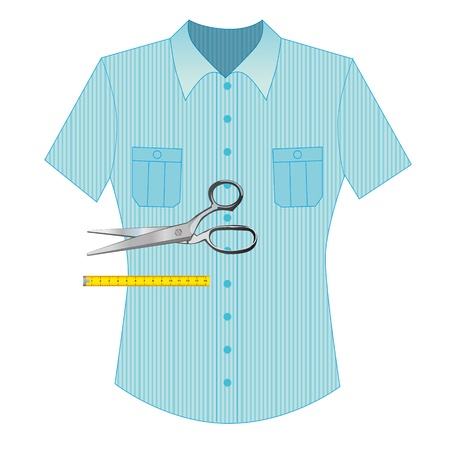pungent: scissors to cut anything, hair and tissue Illustration