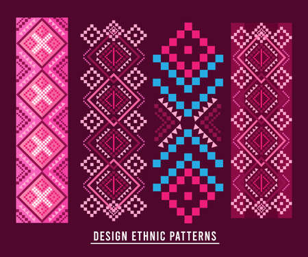 Ethnic Pattern Design Background or Wallpaper, Fabric,Dress.