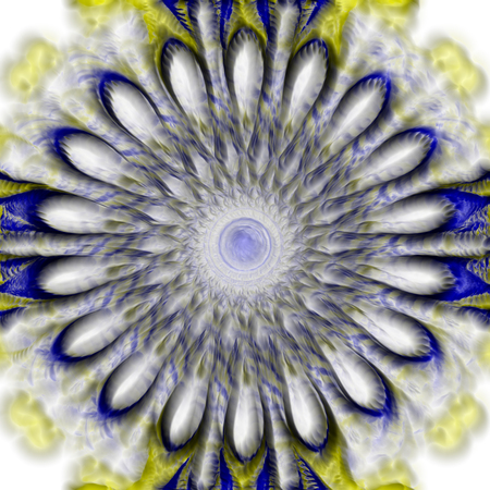 dimming: Blurred abstract flower with dimming. The image is computer graphics, created using various programs. It can be used in the design of your site, design textile, printing industry, in a variety of design projects.