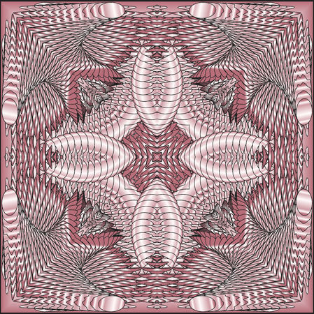 pink pearl: Kaleidoscopic pink pearl pattern. The image is computer graphics, created using various programs. It can be used in the design of your site, design textile, printing industry, in a variety of design projects. Stock Photo