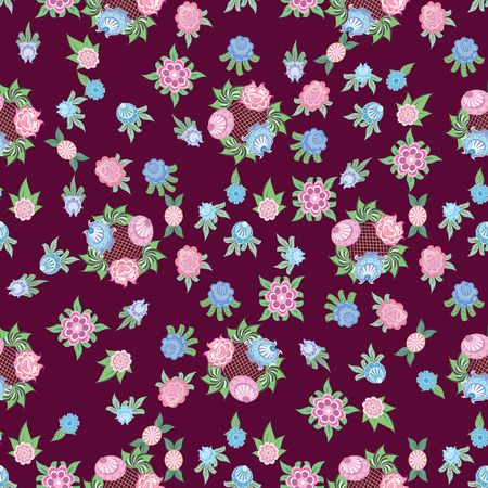 Floral seamless background  is computer graphics and can be used in the design of textiles, in the printing industry, in a variety of design projects