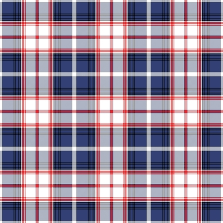 Florida's Tartan. Seamless pattern for tartan of US state of Florida for fabric, kilts, skirts, plaids. Frequent, small weaving. Standard-Bild - 121610991