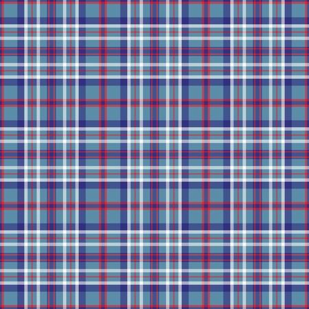 Illinois's Tartan. Seamless pattern for tartan of US state of Illinois for fabric, kilts, skirts, plaids. Frequent, small weaving. Standard-Bild - 121610994