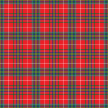 West Virginia's Tartan. Seamless pattern for tartan of US state of West Virginia for fabric, kilts, skirts, plaids. Frequent, small weaving. Standard-Bild - 121611007