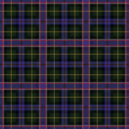 Wisconsin's Tartan. Seamless pattern for tartan of US state of Wisconsin for fabric, kilts, skirts, plaids. Frequent, small weaving. Standard-Bild - 121611008