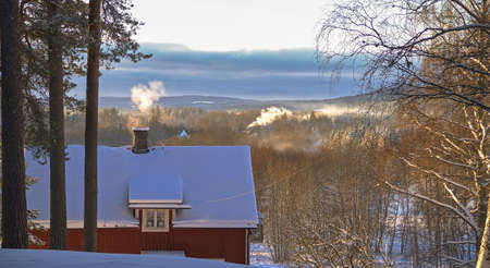 Sweden / Fantastic winter idyll with lots of snow and sunshine invite you to vacation Reklamní fotografie
