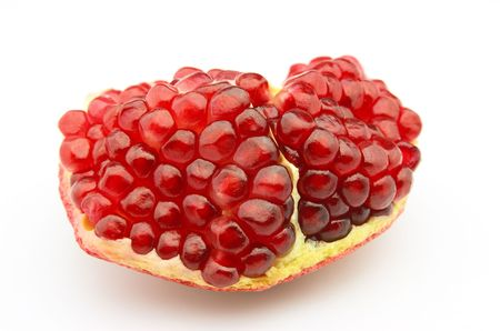 lobe: Pomegranate lobe on a white background