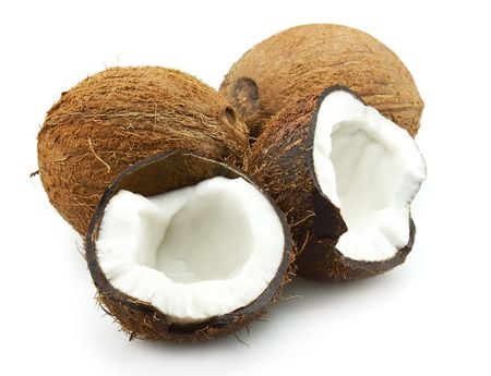 Ripe coconut on a white background Stock Photo - 8224184