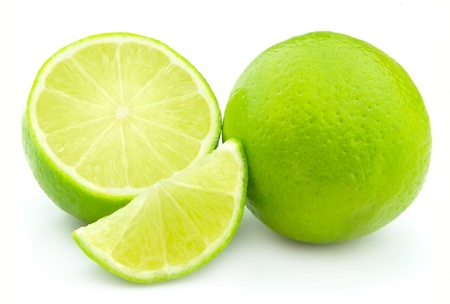 lobes: Lobes of a lime closeup