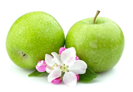 apples with flower closeup