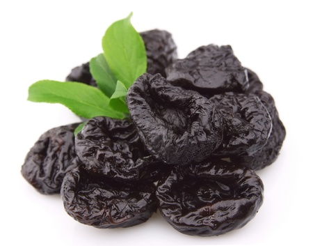 prune: Prunes on a white background
