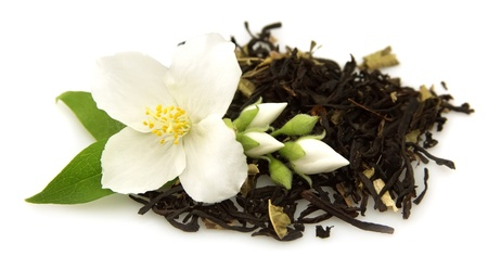 jasmine tea with fresh jasmine flowers Stock Photo - 9757731