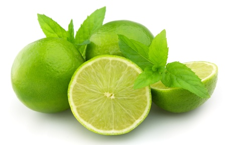 Sweet and juice citrus with mint close up photo