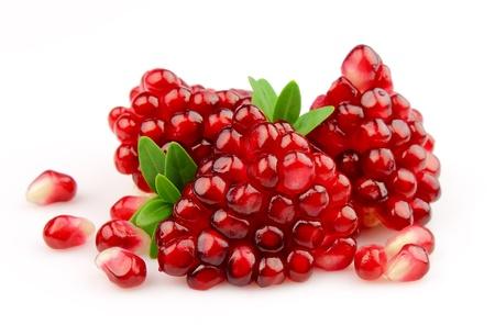grenadine: pomegranates on a white background  Stock Photo