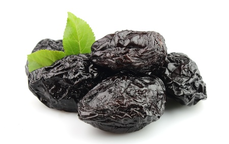 Prunes on a white background  photo