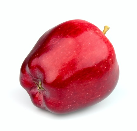 Red apple fruit  close up photo