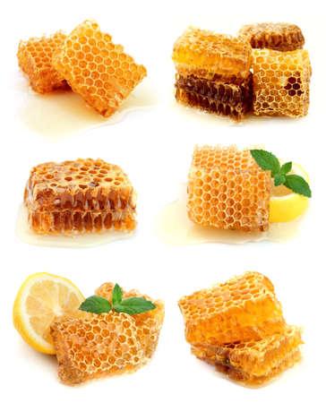 peigne: Collection de nid d'abeille et le miel Banque d'images
