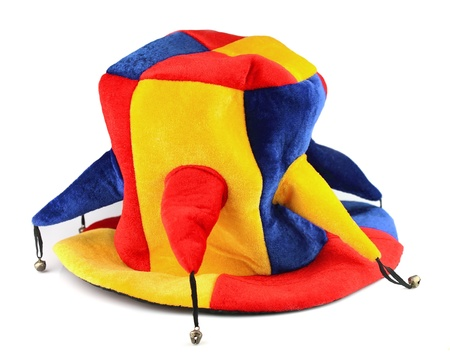 jester hat: Jester hat on white closeup