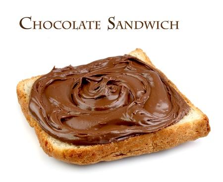 sandwich spread: Chocolate sandwich on white