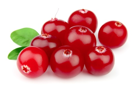 cranberries on a white background close up  Stock Photo
