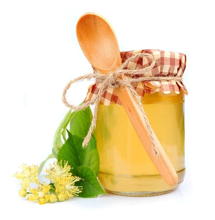 lime blossom: Linden honey with linden flowers