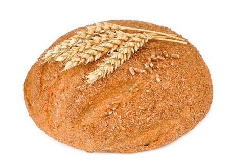白い背景の上に自家製のパン