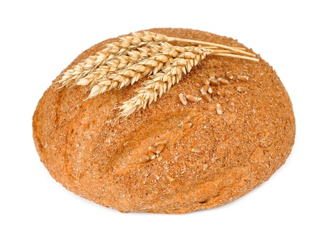 Home-made bread  on a white background Stock Photo - 14918672