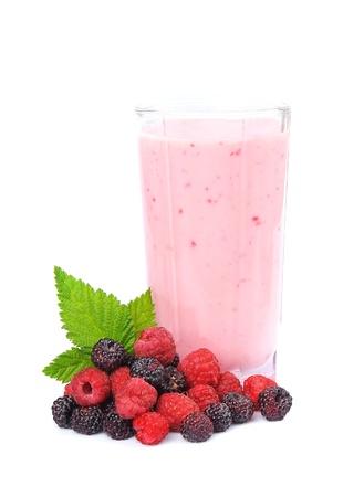 fiambres: Las frutas frescas y batidos en blanco